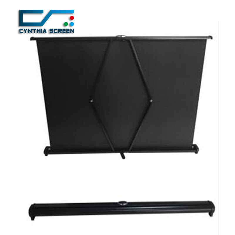 Cynthia Screen 30 Diagonal Format Hd Matte White Portable Desk Pull Up For Projector