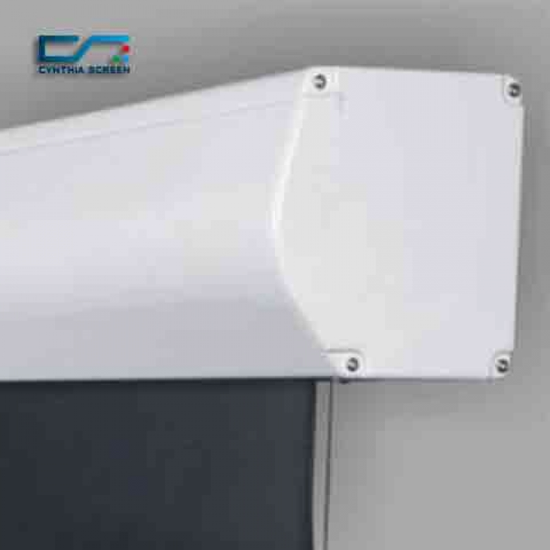 Cynthia screen good quality 159 diagonal soft pvc for Tab tensioned motorized projection screen