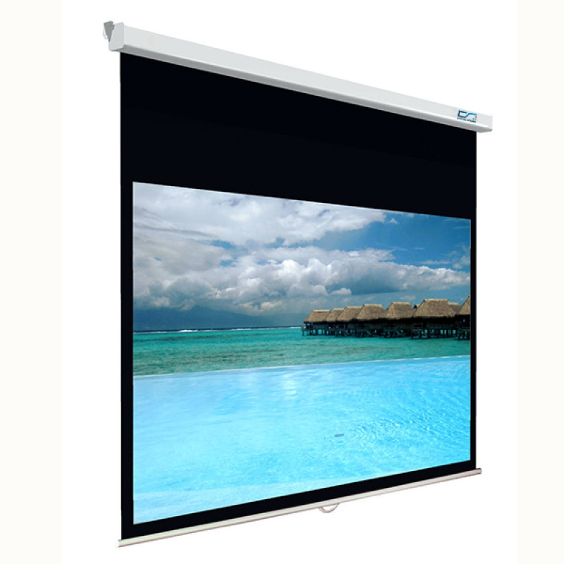 HD Matte White Material 92 Diagonal Wall Mount Manual Self Locked Screen In Video Projection Screens