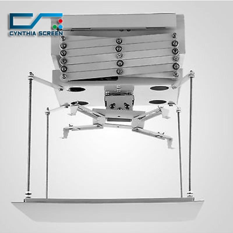 Cynthia lift 150 cm motorized scissor projector lift for Motorized ceiling projector mount