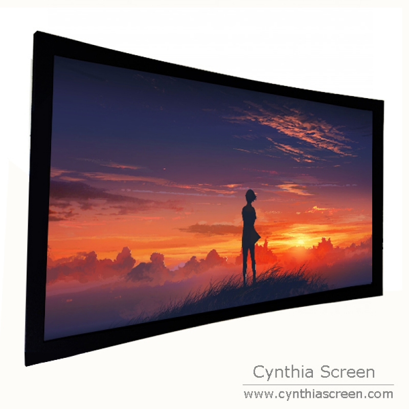 Cynthia Screen Curved Home Theater Frame Projector Screen With Front ...
