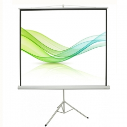 Good Quality High Definition Matte White Material Tripod Stand Manual Projector Screen For Mobile Presentation