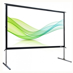 Cynthia Screen 150-Inch 16:9 Front Rear Projection Fast Fold Projector Screen With Wheeled Carry Box
